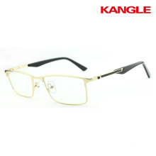 Modern men and women stainless steel material half moon spectacle frames